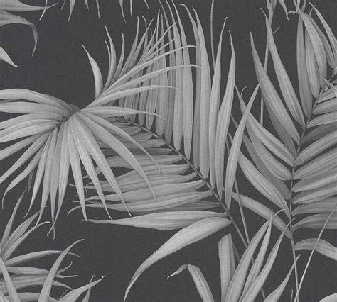 tapete schwarz grau michalsky tapete vlies palmbl 228 tter schwarz grau 36505 3