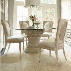 hammary jessica mcclintock 5 piece round glass dining room