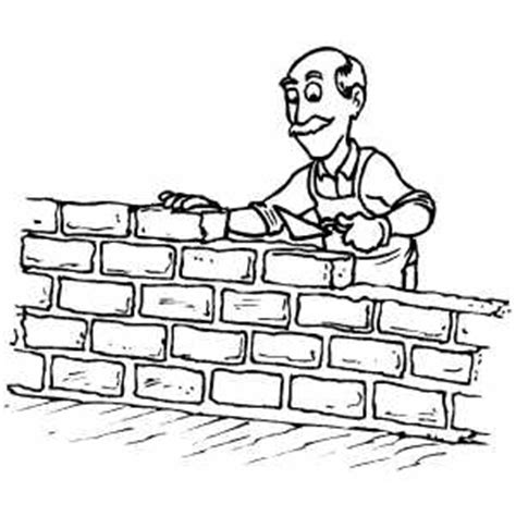 man building wall coloring page
