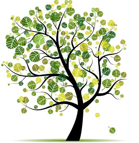 design a tree spring tree green for your design stock vector colourbox