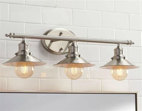 Bathroom Light Fixtures Above Mirror by Bathroom Lighting Vanity Fixture Retro Brushed Nickle 3