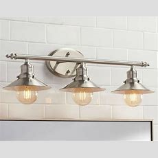 Bathroom Lighting Vanity Fixture Retro Brushed Nickle 3