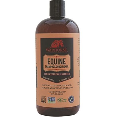 shampoo horse equine conditioner warhorse natural lemon solutions verbena lavender horses tail mane coat conditioning ounce pet market body