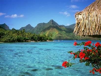 Desktop Wallpapers Scenery Backgrounds Pretty Nature Island