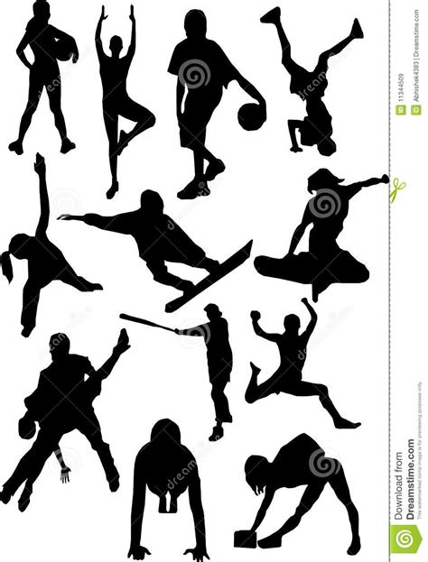 silhouette view  human motifssports positions royalty