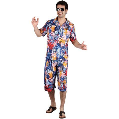 Hawaiian Shirt + Shorts Set Mens National Dress Fancy Dress Beach Costume Outfit   eBay
