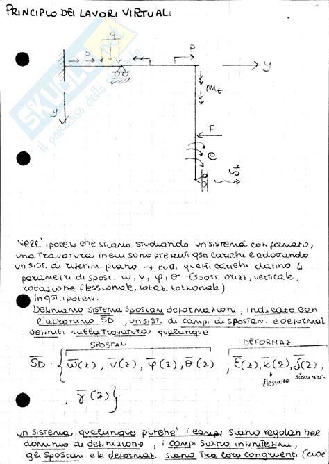 dispense scienza delle costruzioni metodi di risoluzione strutture appunti di scienza delle