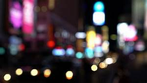 Night city lights and traffic background, New York, Times ...