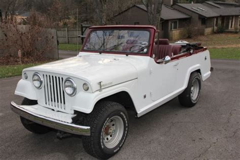 jeep convertible white refurbished 1967 jeepster luxury convertible c100 for sale