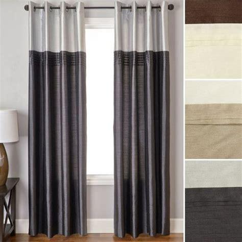 84 quot moulton faux silk grommet curtain panel