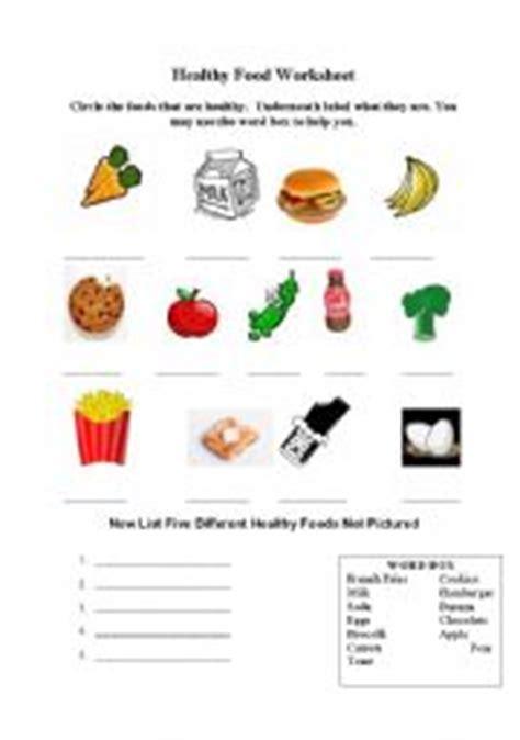 making healthy food choices worksheet