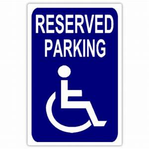 reserved parking 108 handicap parking sign templates With disabled parking template