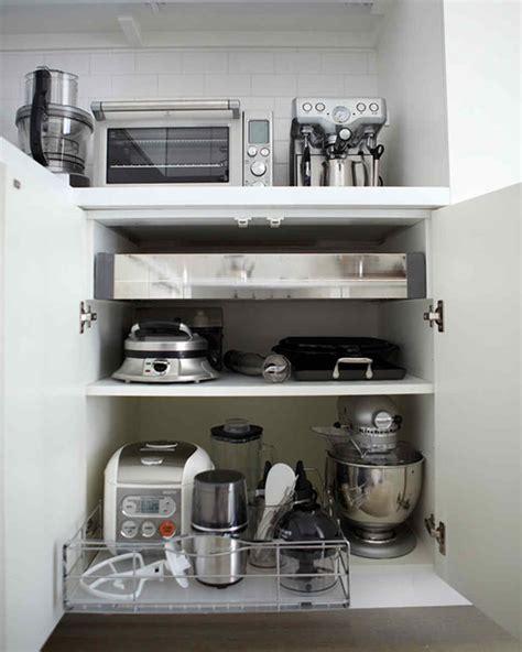 how to organize small kitchen appliances organizing your home martha stewart 8774
