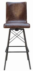 Jenna Swivel Leather Bar Stool - Mecox Gardens