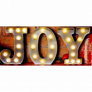 Christmas window decorations decorate outside from the for Lighted letters joy