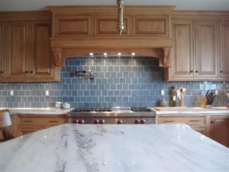 blue glass backsplash kitchen backsplash oak cabinets maple 4808