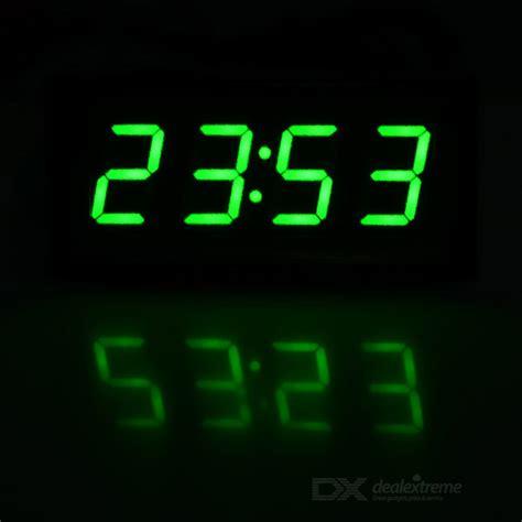 best digital timing light 2 quot car green led digital clock w temperature voltage