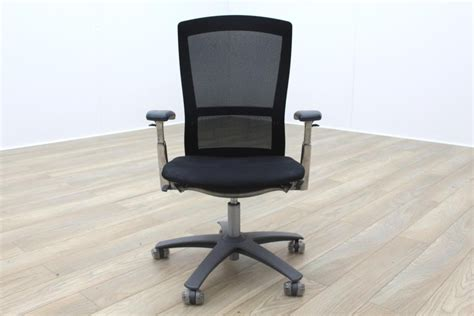 Office Chairs Knoll by Knoll Black Mesh Fabric Multifunction Office Task Chair
