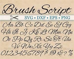 Brush script calligraphy font monogram svg dxf eps png for House lettering script