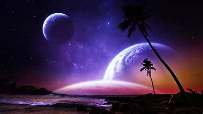 Planets Fantasy Galaxy Space Stars Earth Worlds