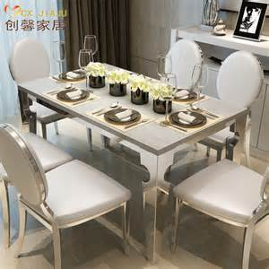 rectangular marble dining tables and chairs combination