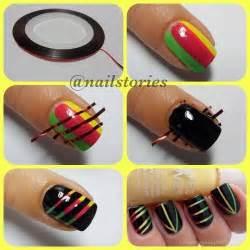 Astounding diy nail art designs using scotch tape cathrynicious