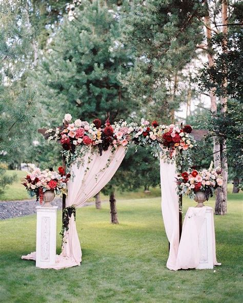 fabric draped wedding arch wedding arch  fabric draping