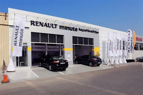 arabian automobiles opens  renault minute service