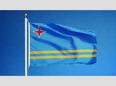 Aruba flag Footage Stock Clips