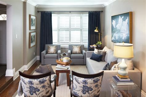 Navy-blue-curtains-living-room-contemporary-with-artwork