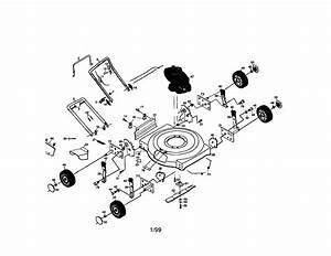 Craftsman Craftsman 4 5hp 22 U0026quot  Rotary Lawn Mower Parts