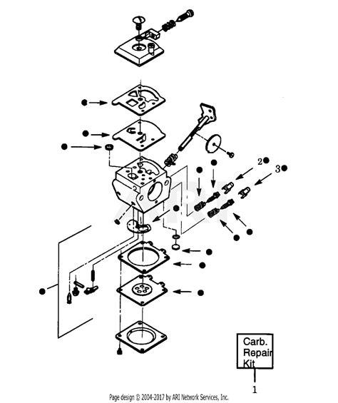 Eater Diagram by Poulan Xt125kt Gas Trimmer Parts Diagram For Carburetors