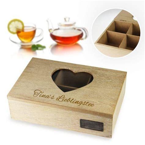 teebox mit gravur ein tolles geschenk f 252 r alle teeliebhaber