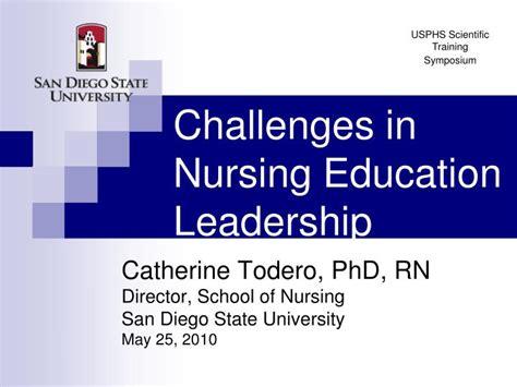 challenges  nursing education leadership