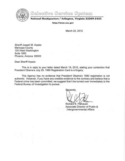 selective service letter levelings