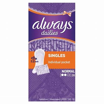 Always Dailies Panty Liners Singles Normaal Normal