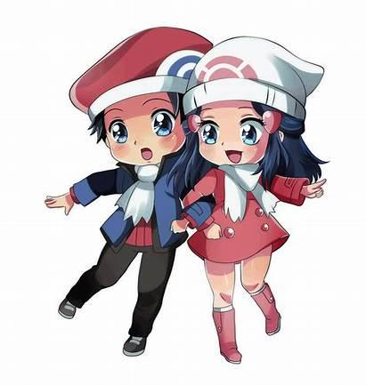 Pokemon Lucas Dawn Chibi Deviantart Chicas Con