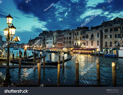 Grand Canal Sunset Time Venice Italy Stock Photo 300666626