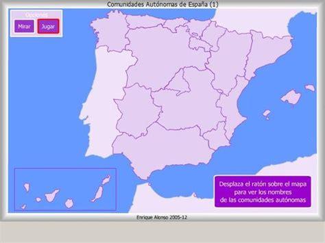 Mapa Interactivo De España Comunidades Autónomas ¿dónde