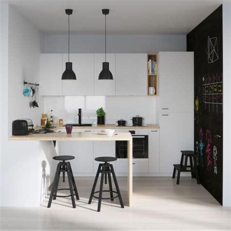 cuisine bois  blanc moderne  idees damenagement