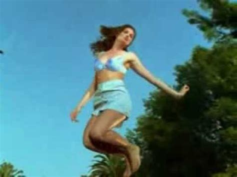 Girls jumping on trampolines - YouTube