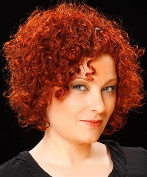 short curly casual hairstyle medium red