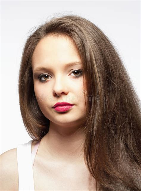 Photos Of Brown Hair by Beautiful With Brown Hair Stock Photo