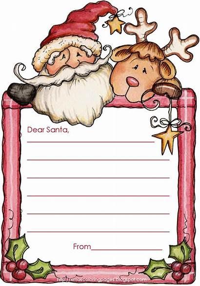Santa Letter Write Template Templates Christmas Printable