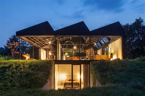 Solarpowered Modern House Is An Airy Retreat Melded Into