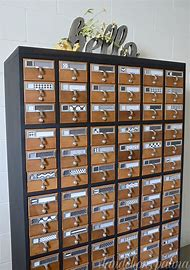 Painted Library Card Catalog