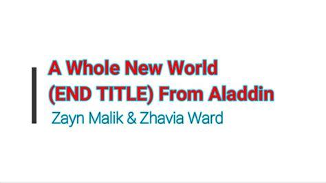 world  title  aladdin  zayn malik