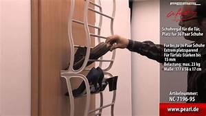 Schuhregal Für Die Tür : infactory schuhregal f r die t r platz f r 36 paar schuhe youtube ~ Watch28wear.com Haus und Dekorationen