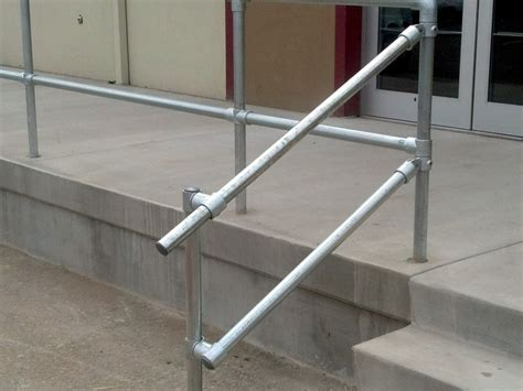 fitting banisters guide how to build a pipe fitting handrail simplified