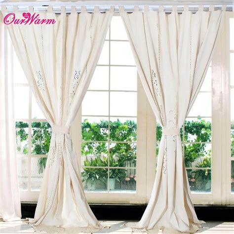 curtains tab top linen lace crochet curtain 1 8cm width